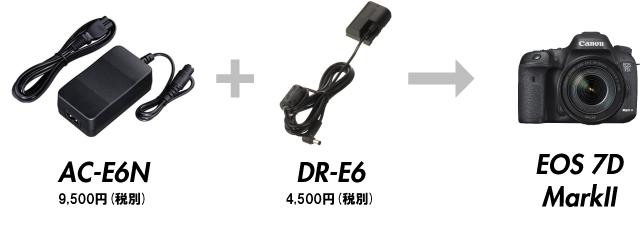AC-E6NとDR-E6の組み合わせ
