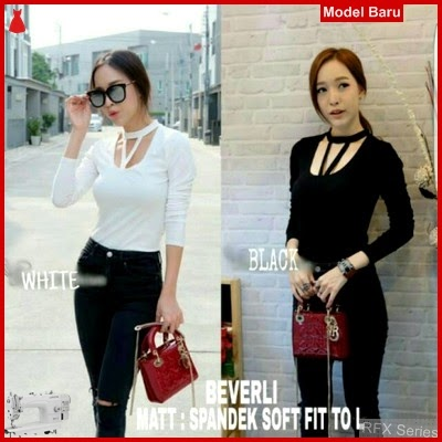 RFX106 MODEL BEVERLI BLOUSE HALUS FIT TO L BLKG MURAH ONLINE