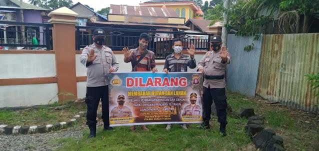 Patroli Polsek Dusteng, Mengajak Masyarakat Untuk Bersama Mencegah Karhutla