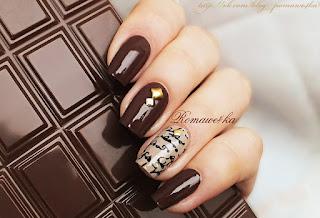 Шоколадное великолепие в маникюре