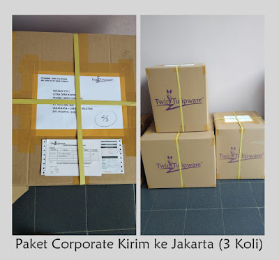 Paket Corporate Tulipware Kirim ke Jakarta