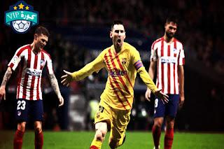 نتيجة مباراة برشلونة واتلتيكو مدريد كأس السوبر الاسباني