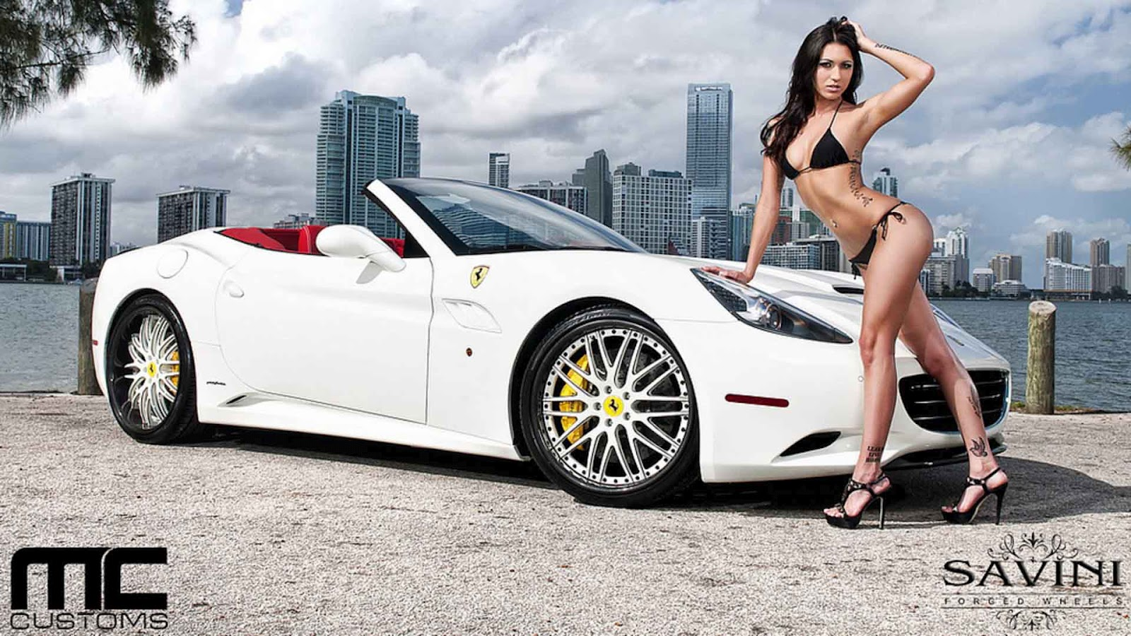 Sexy Girls And Cars Wallpaper