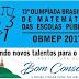 Estudantes de Bom Conselho são premiados em Olimpíadas Brasileiras de Matemática