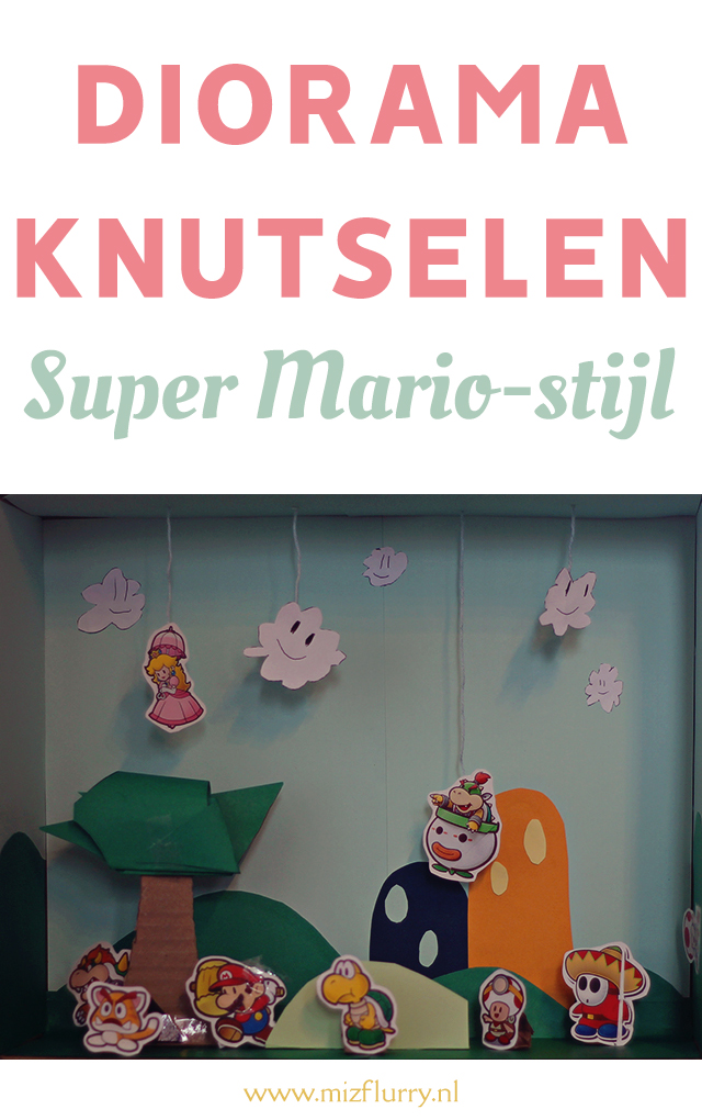 diorama knutselen super mario pinterest