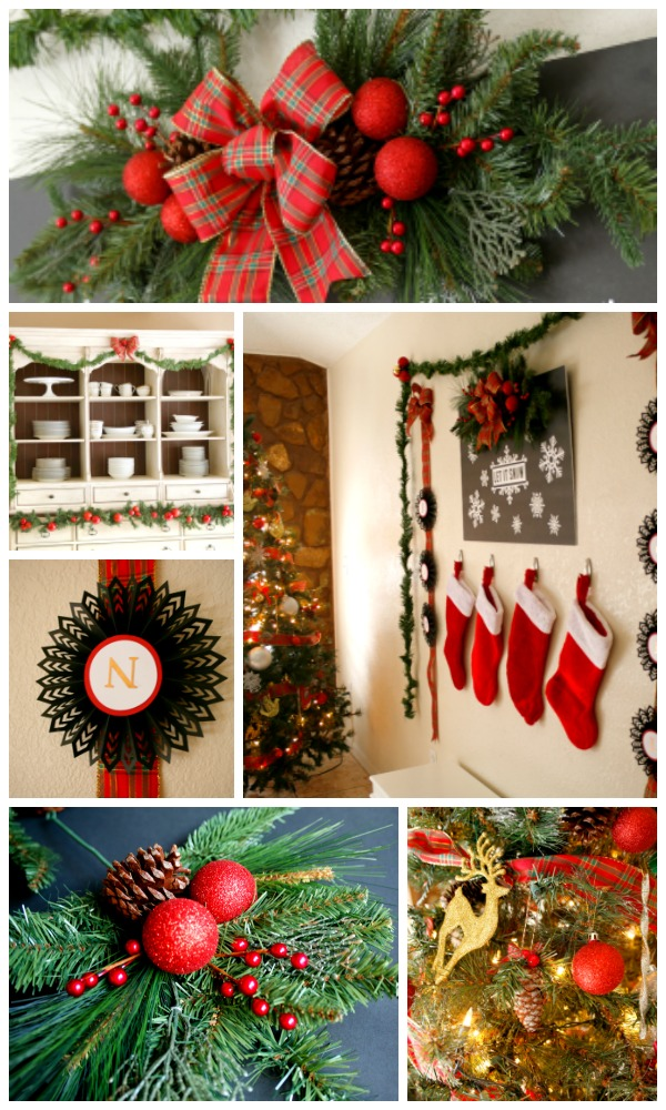 Christmas is one of my favorite times of the year, and I love decorating my  house. But I'm one of those people who refuses to put up Christmas  decorations ... - Black, Red, And Tartan Christmas Decor Jordan's Easy Entertaining
