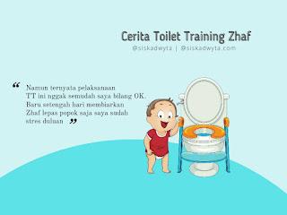 Zhaf memulai toilet training menjelang usia 2 tahun