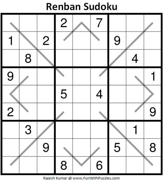 Renban Sudoku Puzzle (Fun With Sudoku #340)