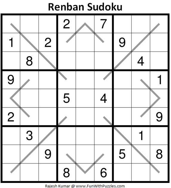 Renban Sudoku Puzzle (Fun With Sudoku #340)