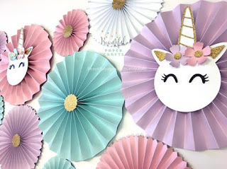 Unicorn Party Fiesta Temática de Unicornio Decoración del Local