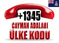 +1 345 Cayman Adaları ülke telefon kodu