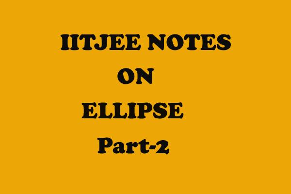 ellipse part 2