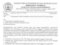Perpanjangan Waktu Pendaftaran Pretest Calon Peserta PPGJ 2018