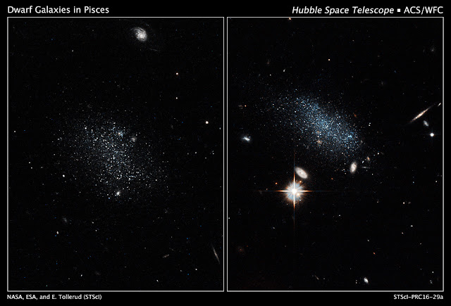 Hubble uncovers a galaxy pair coming in from the wilderness