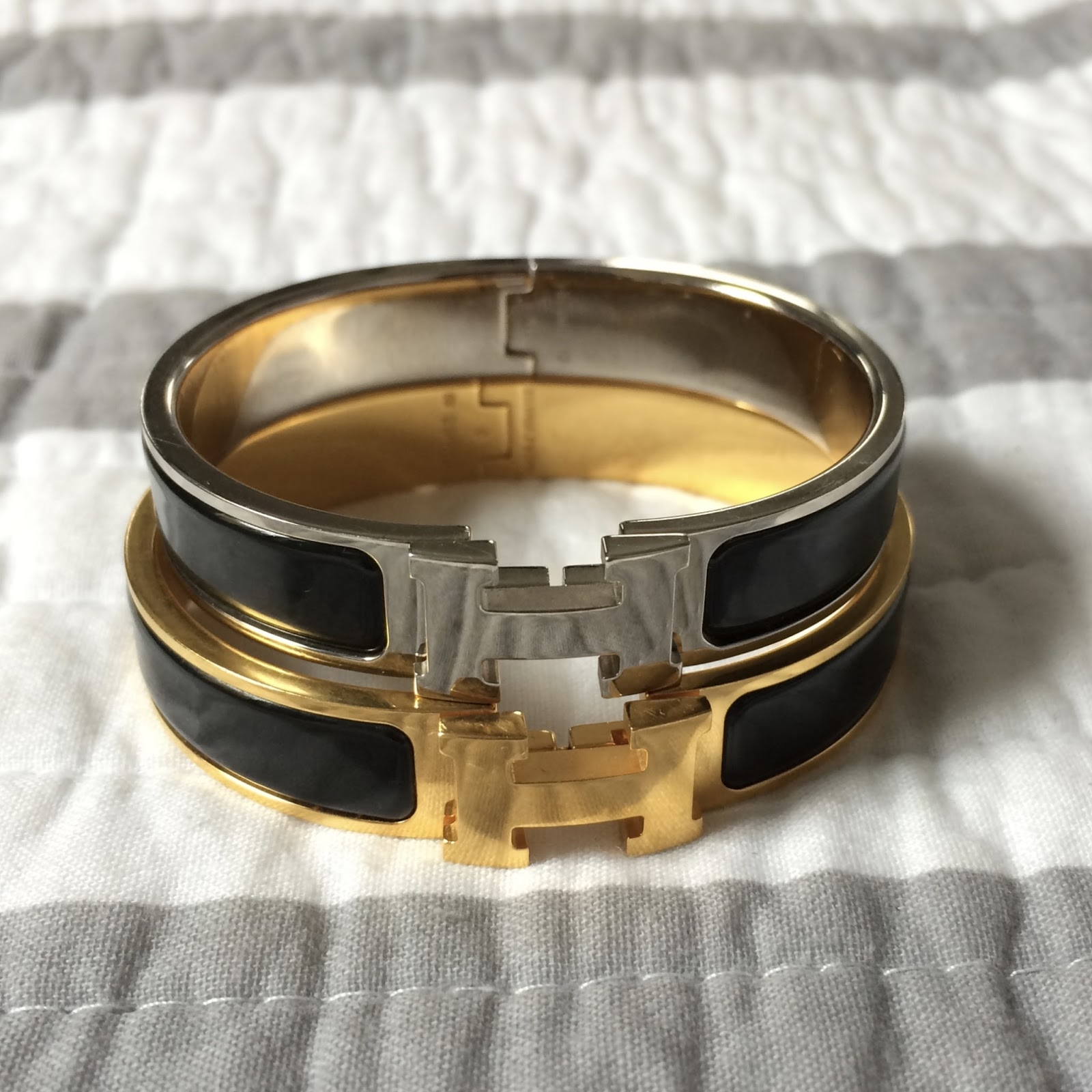 c46ff5f8794b I compare the Hermès Clic Clac H Bracelet in the PM size vs the Hermès Clic  Clac H Bracelet in the GM size in this post. Watch me try on these bracelets  ...