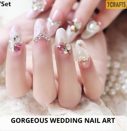 wedding nails ideas for bride 2021