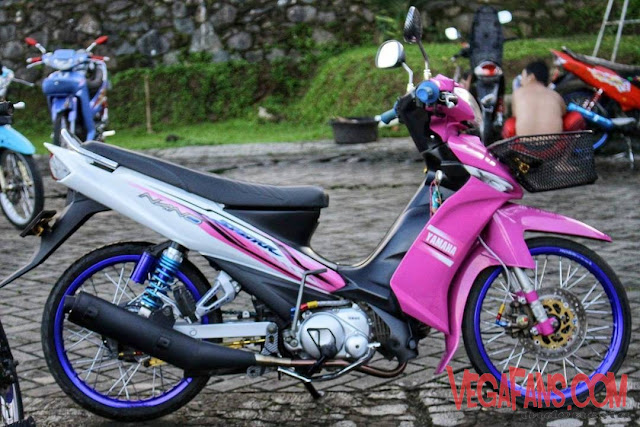 Vega ZR Modif Simple Ungu Putih