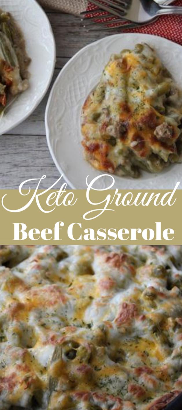 KETO GROUND BEEF CASSEROLE #dietketo #healthy #beef #casserole #paleo