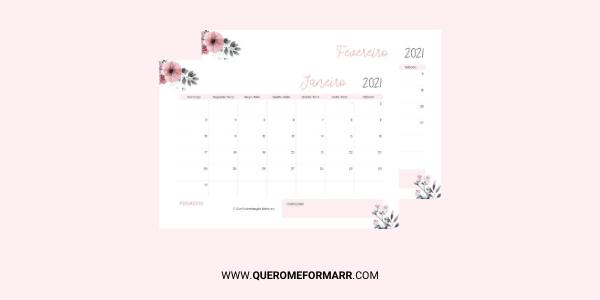 Planner Mensal Gratuito para Download e Impressão