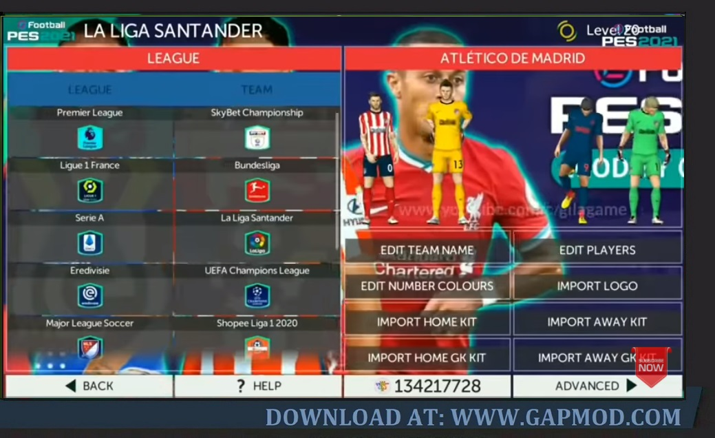 FTS PES 2021 Full Eropa & Shopee Liga 1 Indonesia