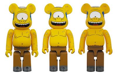 The Simpsons Cyclops Wiggum Be@rbrick Vinyl Figures by Medicom
