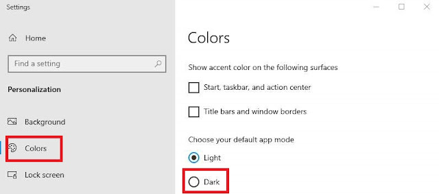 Cara Dark Mode Windows 10 (3)