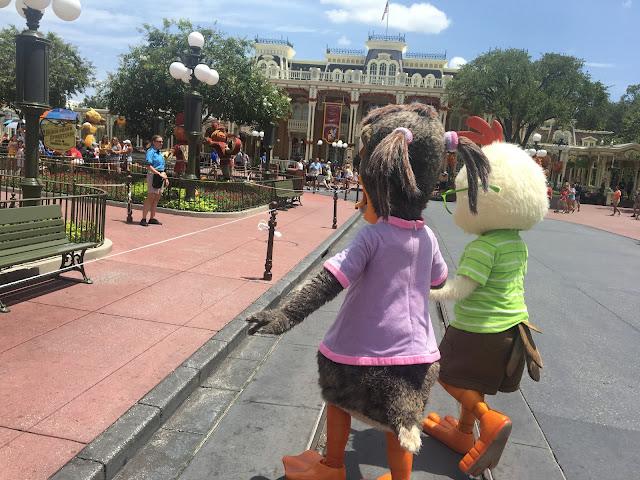 Chicken Little and Abby Mallard Characters Magic Kingdom Disney World