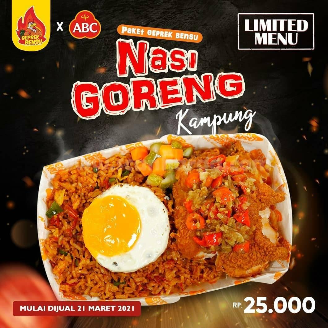 Paket GEPREK BENSU NASI GORENG KAMPUNG Limited Menu - harga hanya 25K