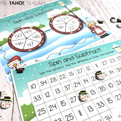 second-grade-december-math-centers