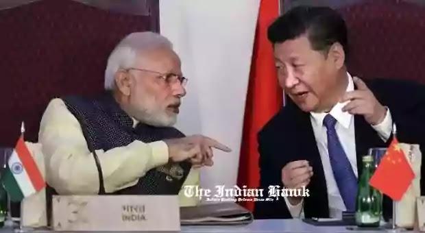 Narendra Modia and Xi jinping talk