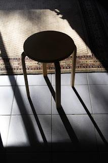 Chair, empty.
