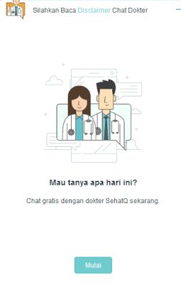 Tampilan Fitur Chat Dokter