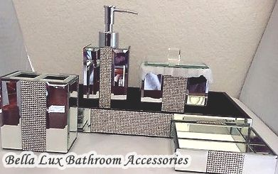 rhinestone bathroom accessories. Bella Lux Bathroom Accessories Impressive Ideas  HomeTiens
