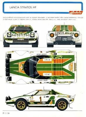 Lancia Stratos, plans de la voiture des années 1970
