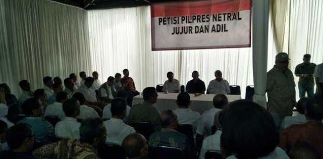 Purnawirawan TNI Dan Polri Menggelar Petisi Pilpres Netral, Jujur Dan Adil