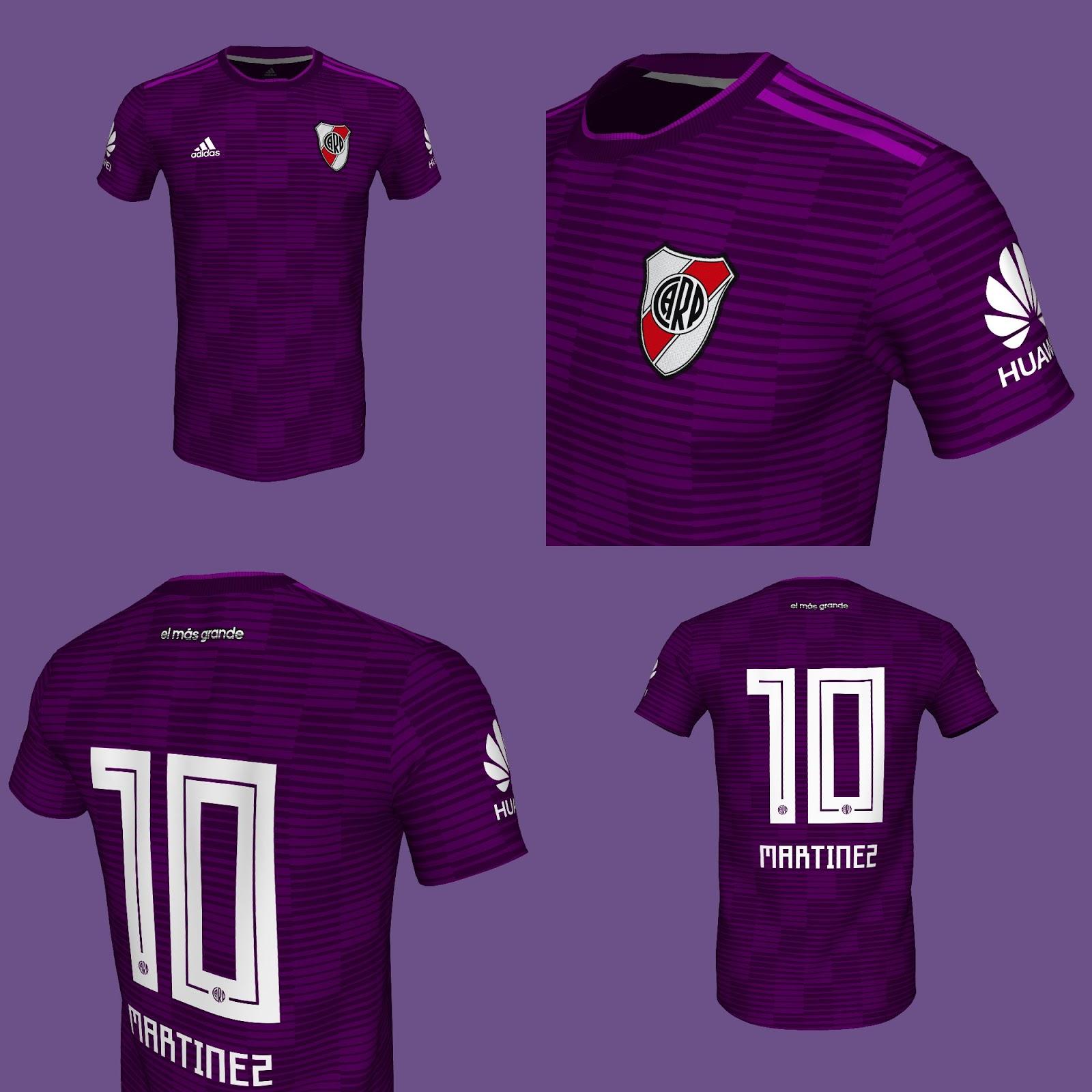Nueva Camiseta River River Plate Suplente  Violeta