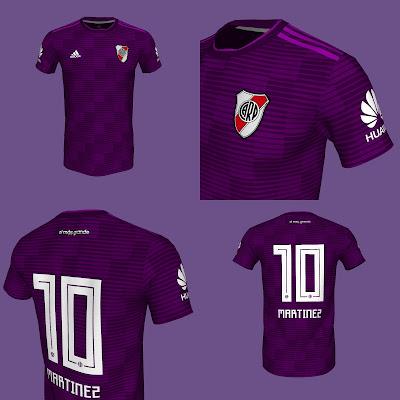 Nueva camiseta, River, River Plate, Suplente, 2018, Violeta