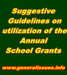 Suggestive Guidelines on utilization of the Annual School Grants
