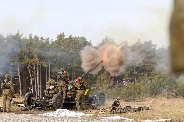 Польські морські зенітники стріляли з гармат С-60