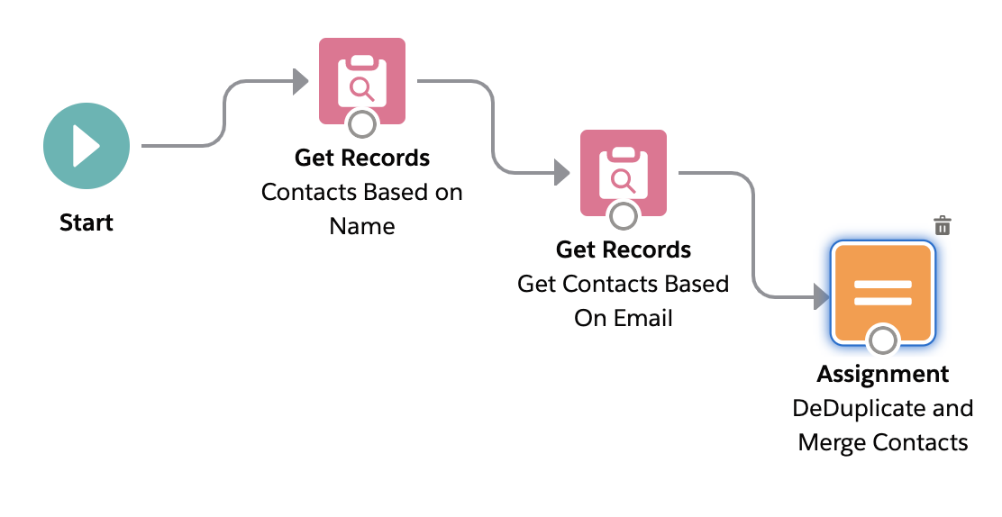 Remove duplicates in a Salesforce Flow