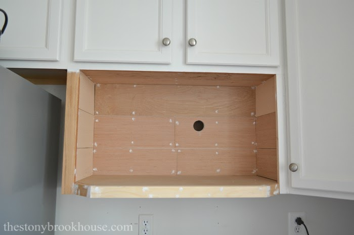 Shiplap Microwave shelf