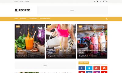 Download Free Premium Recipee Food Blogger Template