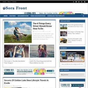 Sora front free blogger theme