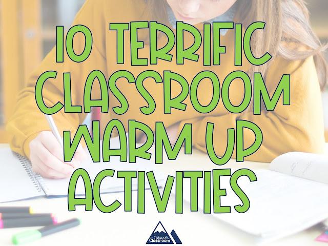 10 Terrific Classroom Warm-Up Activities
