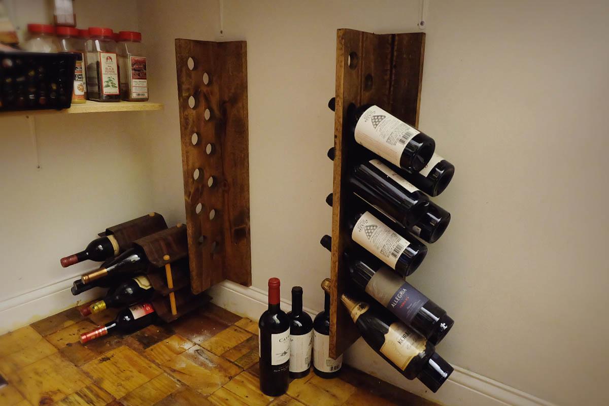 let s diy a new pegboard wine rack