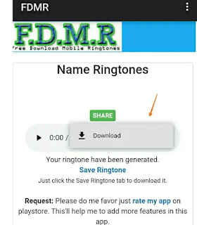Create name ringtone