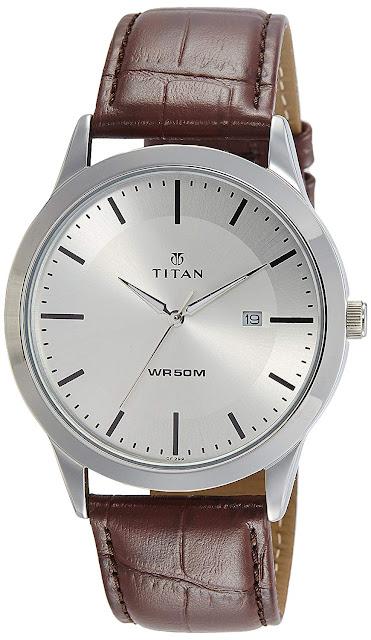 Titan Analog Silver Dial Men's Watch