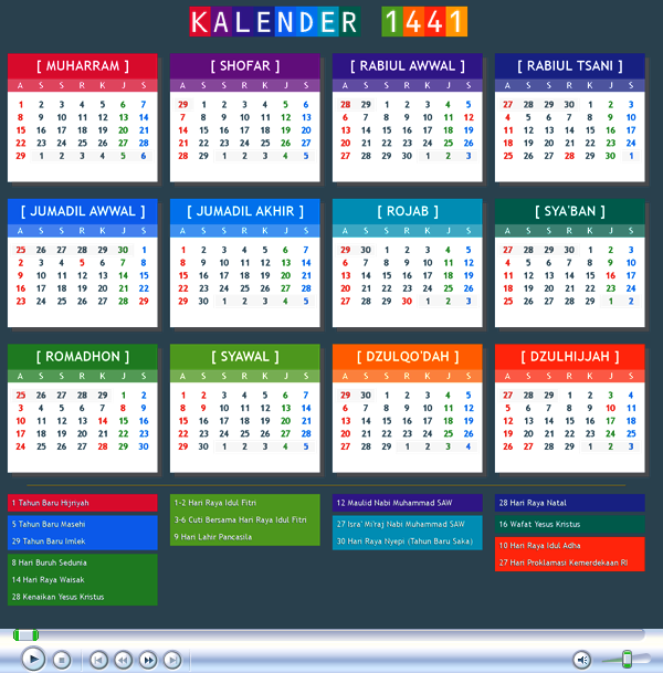 kalender 1441 hijriyah
