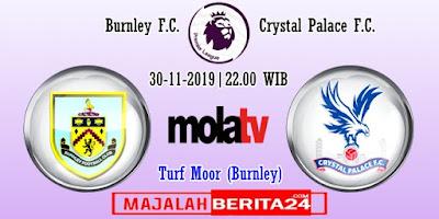 Prediksi Burnley vs Crystal Palace — 30 November 2019