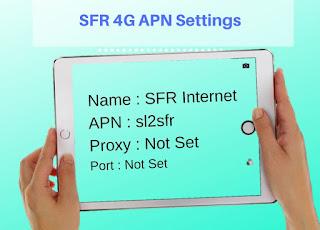 SFR 4G APN Settings